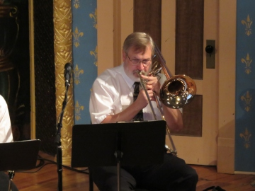 Mike Clipson on trombone